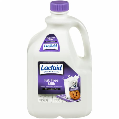 Lactaid 100% Lactose Free Fat Free Milk Perspective: front