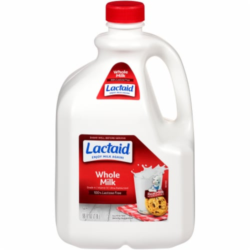 Lactaid 100% Lactose Free Whole Milk Perspective: front