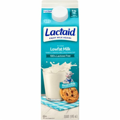 Lactaid 100% Lactose Free 1% Lowfat Milk Perspective: front