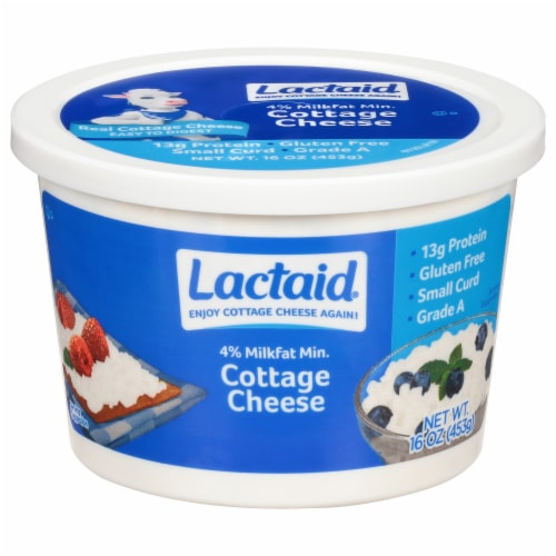Lactaid 4% Milkfat Lactose Free Cottage Cheese Perspective: front