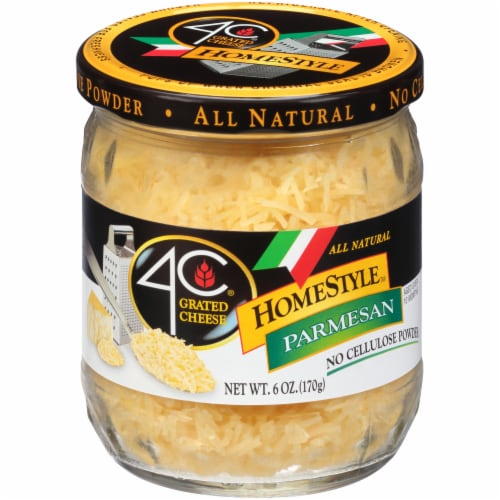 4C Homestyle Grated Parmesan Cheese Perspective: front