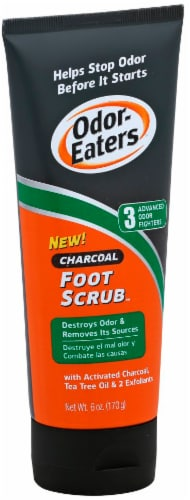 Odor-Eaters Charcoal Foot Scrub Perspective: front