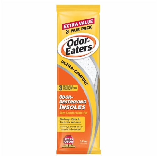Odor-Eaters Ultra-Comfort Odor-Destroying Insoles 3 Count Perspective: front