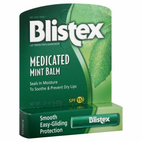 Blistex Medicated Mint Balm SPF15 Perspective: front