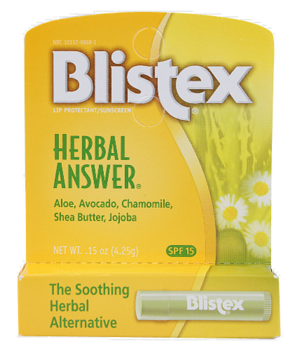Blistex Herbal Answer Lip Protectant Perspective: front
