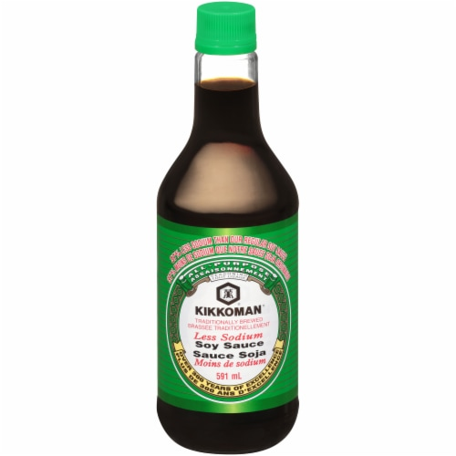 Kikkoman Low Sodium Soy Sauce Perspective: front