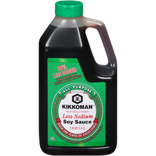Kikkoman Less Sodium Soy Sauce Perspective: front