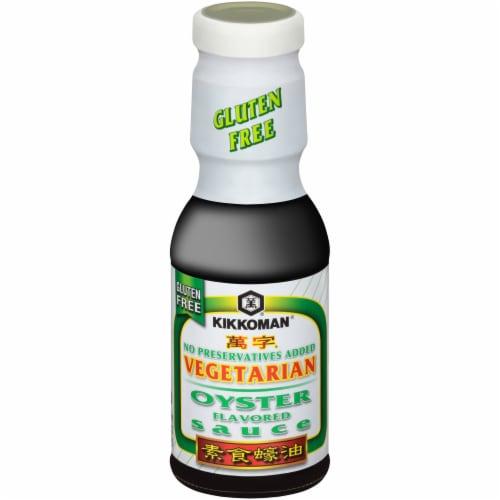 Kikkoman Gluten Free Vegetarian Oyster Flavored Sauce Perspective: front
