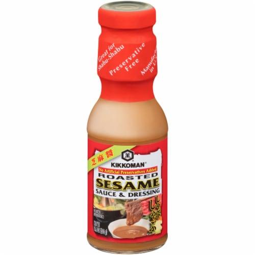 Kikkoman Roasted Sesame Sauce & Dressing Perspective: front