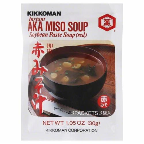 Kikkoman Aka Instant Miso Soup Mix Perspective: front