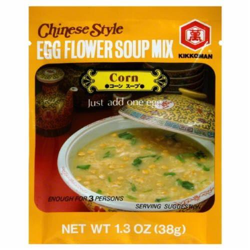 Kikkoman Corn Egg Flower Soup Mix Perspective: front