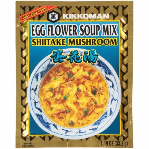 Kikkoman Egg Flower Shiitake Soup Mix Perspective: front