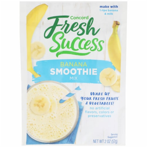 Concord Foods Fresh Success Banana Smoothie Mix Perspective: front