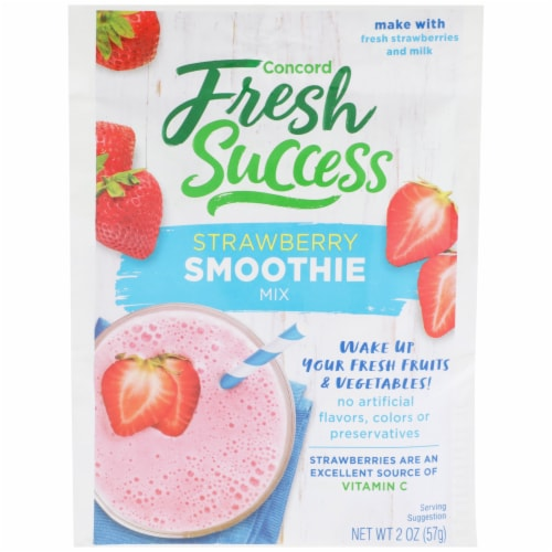 Concord Foods Fresh Success Strawberry Smoothie Mix Perspective: front