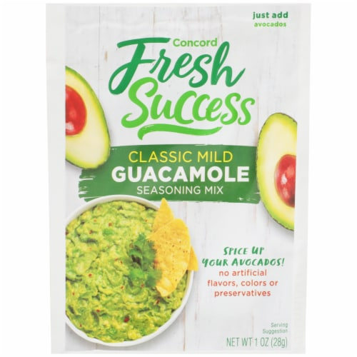 Concord Foods Fresh Success Classic Guacamole Mix Perspective: front