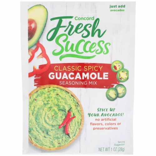 Concord Foods Extra Spicy Guacamole Mix Perspective: front