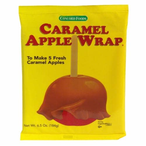 Concord Caramel Apple Wrapper Perspective: front