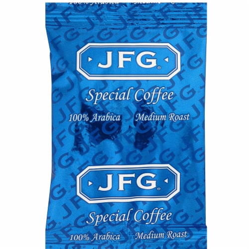 JFG 100 Arabica Coffee Special Blend, 1.25 Ounce -- 72 per case. Perspective: front