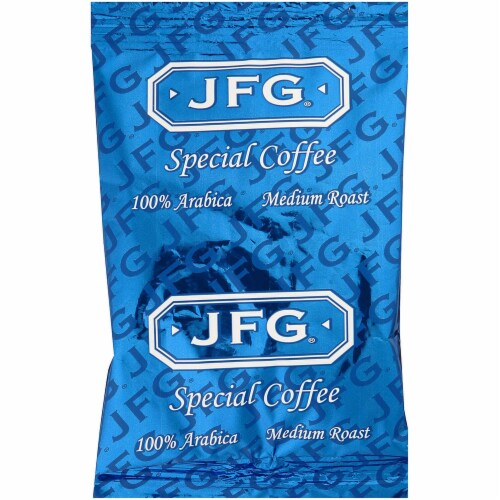 JFG 100 Arabica Coffee Special Blend, 1.75 Ounce -- 72 per case. Perspective: front