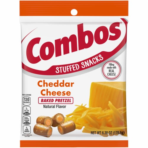 Combos Baked Snacks Cheddar Cheese Pretzels Perspective: front