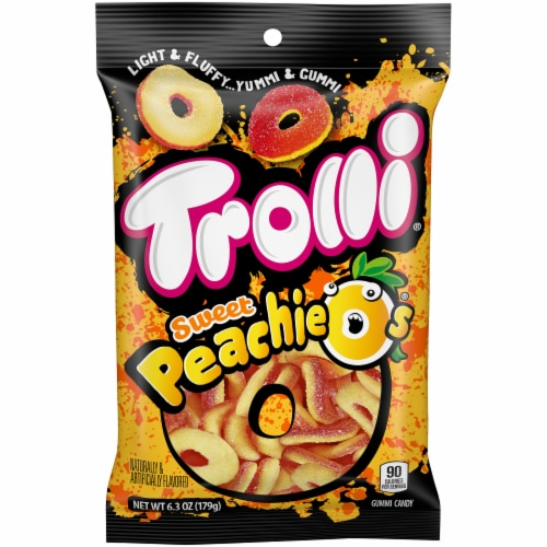 Trolli Sweet Peachie O's Gummi Candy Perspective: front