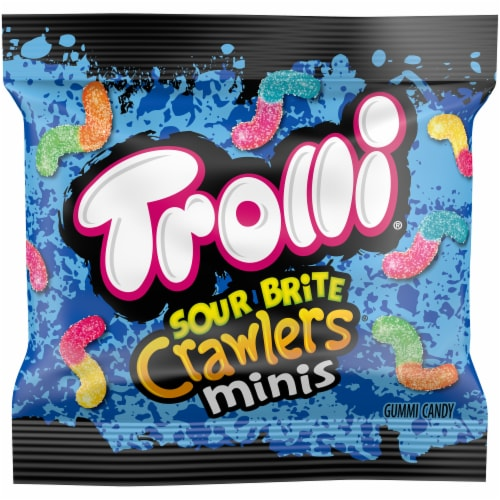 Trolli Sour Brite Mini Crawlers Gummi Candy Perspective: front