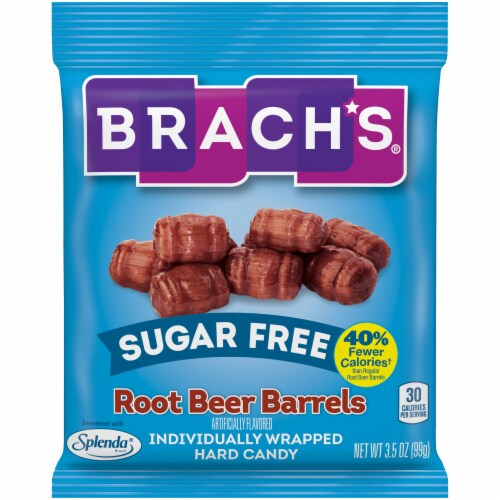 Brach's Sugar Free Root Beer Barrels Hard Candy Perspective: front