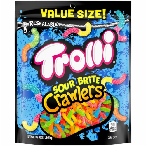Trolli Sour Brite Crawlers Value Size Perspective: front