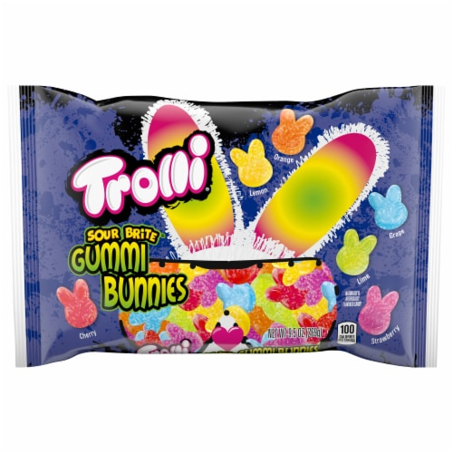 Trolli Sour Brite Gummi Bunnies Easter Candy Perspective: front