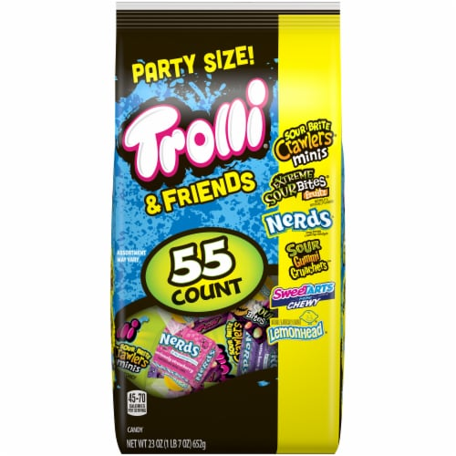 Trolli & Friends Party Size Assorted Candy 55 Count Perspective: front