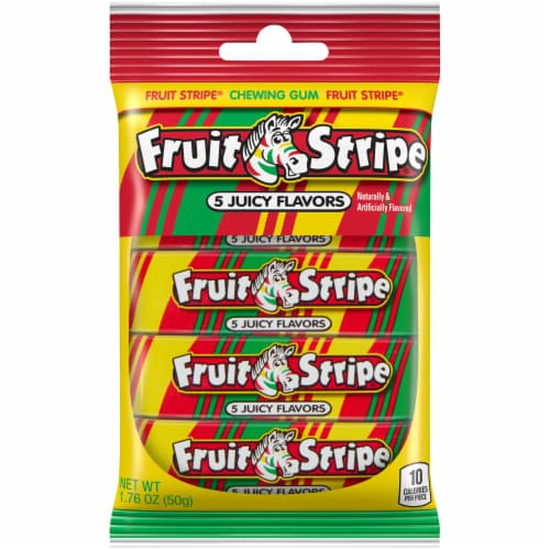 Fruit Stripe 5 Juicy Flavors Chewing Gum Perspective: front