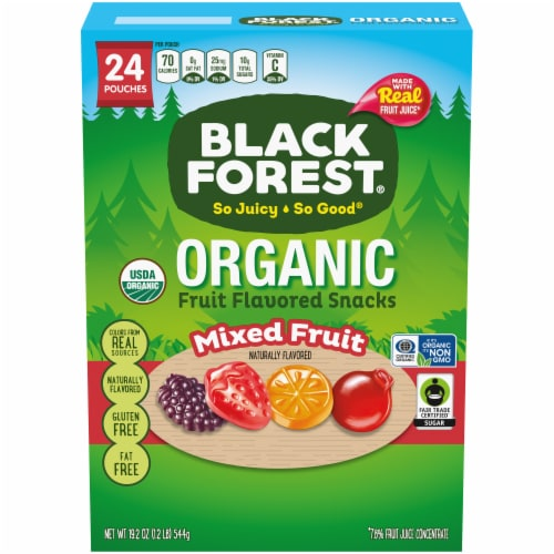 Black Forest Organic Mixed Fruit Flavored Snacks 24 Count Perspective: front