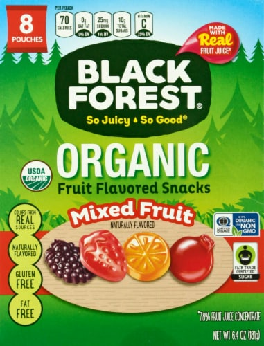 Black Forest Organic Mixed Fruit Flavored Snacks 8 Count Perspective: front