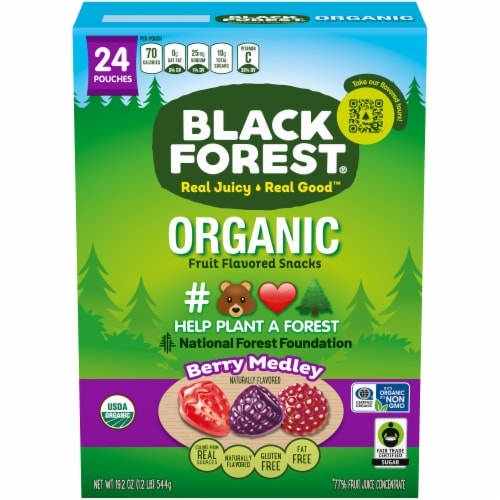 Black Forest Organic Berry Medley Fruit Flavored Snacks Perspective: front