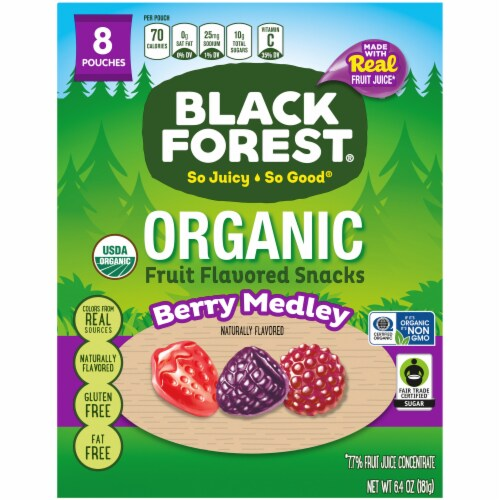 Black Forest Organic Berry Medley Fruit Snacks Perspective: front