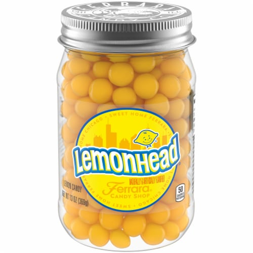 Lemonhead Lemon Candy Jar Perspective: front