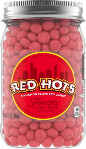 Red Hots® Cinnamon Flavored Candy Jar Perspective: front