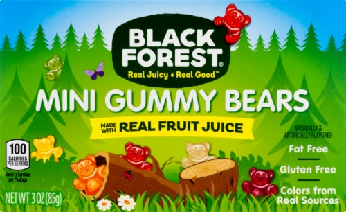 Black Forest Mini Gummy Bears Perspective: front