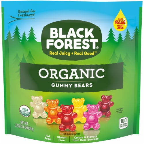 Black Forest Organic Gummie Bears Perspective: front