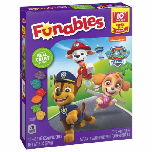 Funables™ Paw Patrol Assorted Fruit Flavored Snacks Perspective: front