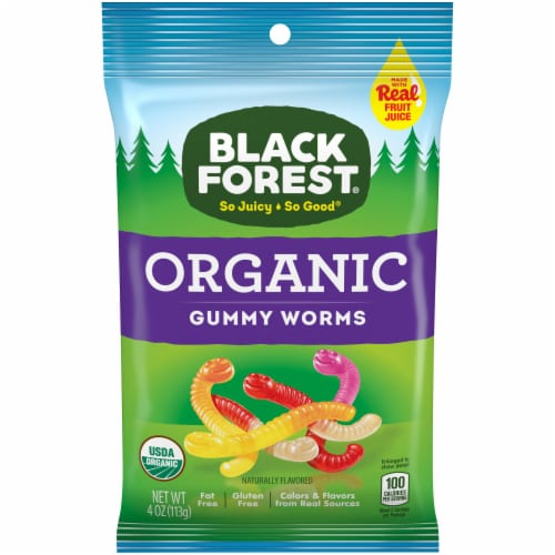 Black Forest Organic Gummy Worms Perspective: front