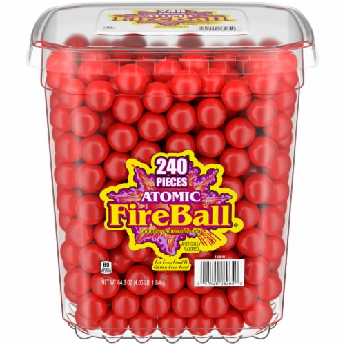 Atomic FireBall Cinnamon Flavored Candy Perspective: front