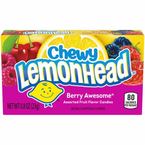 Lemonhead Chewy Berry Awesome Assorted Fruit Flavored Candies Perspective: front