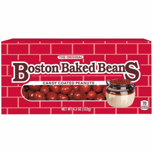 Boston Baked Beans Candy Coated Peanuts Theater Box Perspective: front