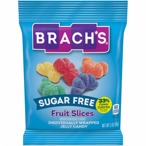 Brach's® Sugar Free Fruit Slices Jelly Candy Perspective: front