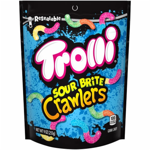 Trolli Sour Brite Crawlers Gummy Candy Perspective: front