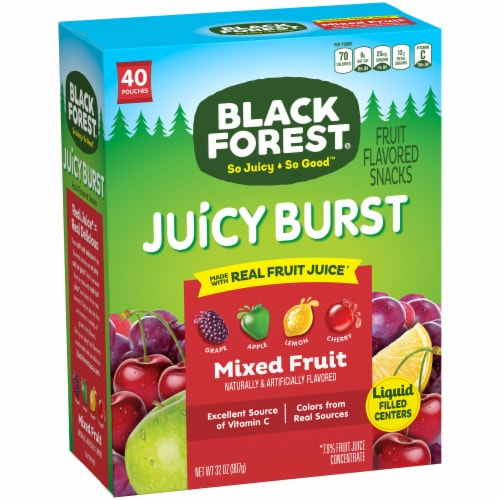 Black Forest® Juicy Burst Mixed Fruit Snacks Perspective: front