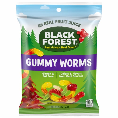 Black Forest Gummy Worms Perspective: front