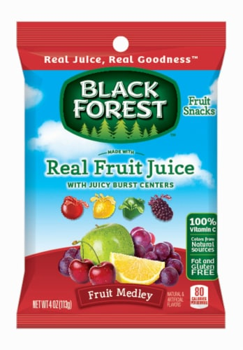 Black Forest Liquid Filled Fruit Snacks, 4 Ounce -- 12 per case. Perspective: front