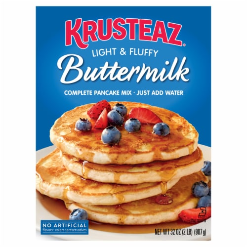 Krusteaz Light & Fluffy Buttermilk Complete Pancake Mix Perspective: front